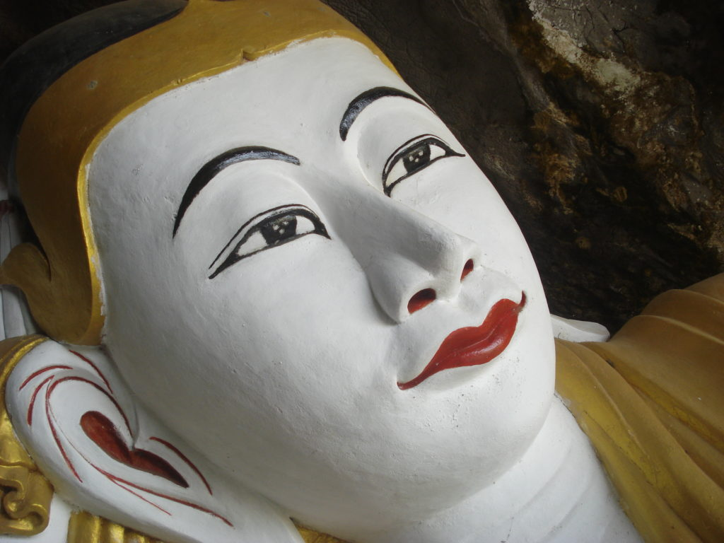 Reclining Buddha in southern Burma (photo by Louisa)