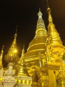 the Schwedagon Pagoda in Burma
